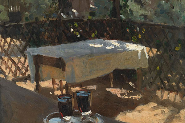 Detail from John Singer Sargent, 'Wineglasses', probably 1875 © The National Gallery, London