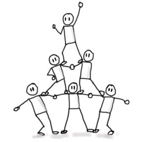 I14 Pyramide humaine