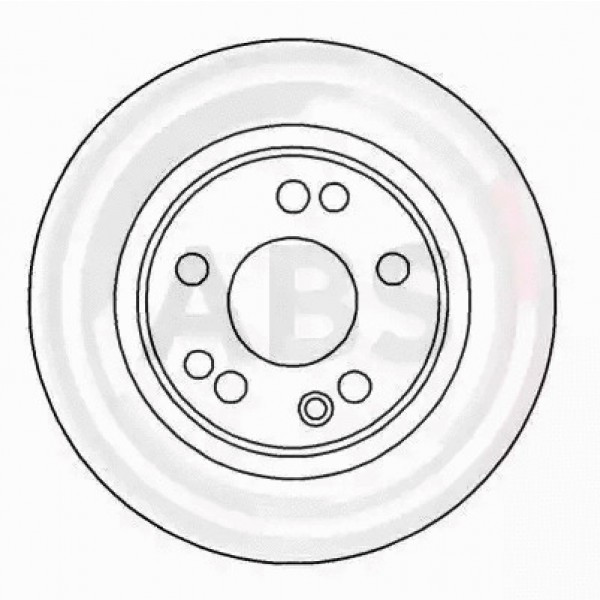 Front Left Brake Disc A.B.S. 16256