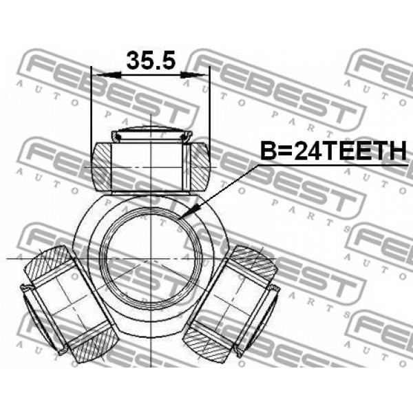 Drive Shaft Tripod Hub /Spider Assembly FEBEST 2716-C30