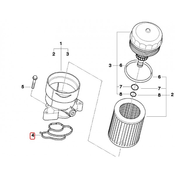 Seal, oil filter housing ELRING 324.230