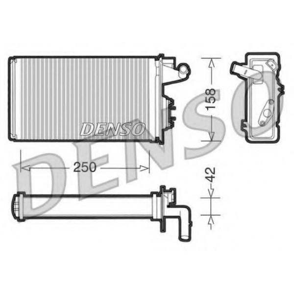 Heat Exchanger, interior heating for Alfa, Fiat, Lancia