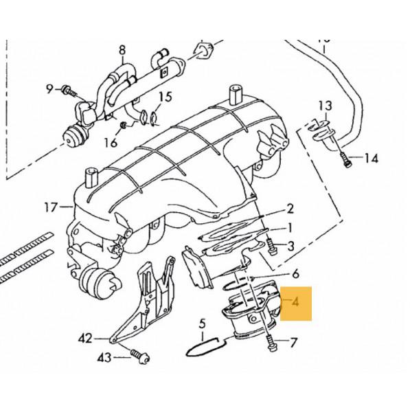 Throttle Body for Audi A4, A6, VW Passat, Seat Altea, Leon