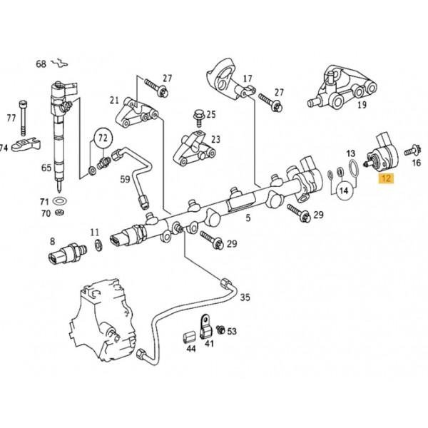 Fuel Rail Pressure Sensor / Regulator Mercedes C, E, G, M