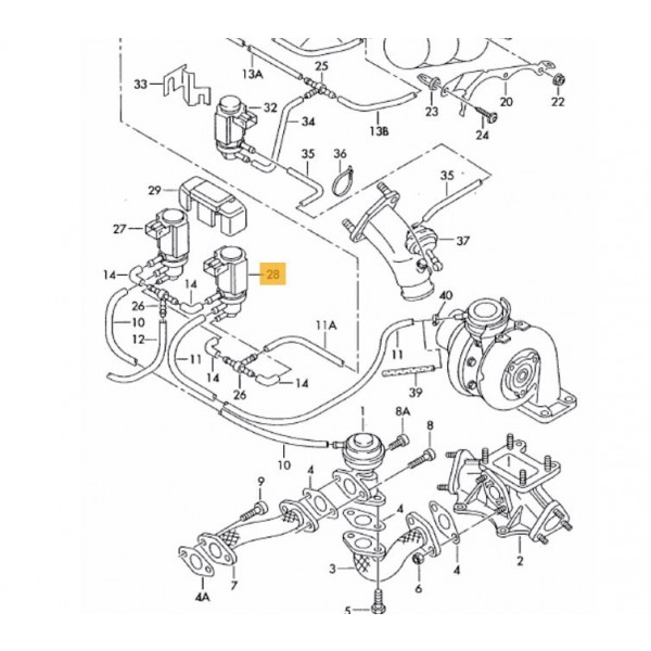 Genuine OEM Turbo Pressure Solenoid Valve for Audi A6, A6