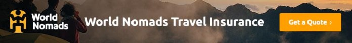 World Nomads travel insurance banner
