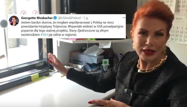 ambasador USA w Polsce Georgette Mosbacher / autor: screen youtube/Ambasada USA