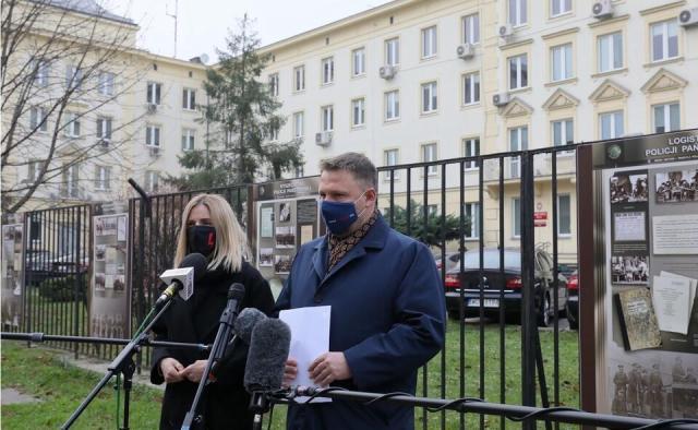 Posłowie KO Aleksandra Gajewska i Marcin Kierwiński / autor: PAP/Paweł Supernak