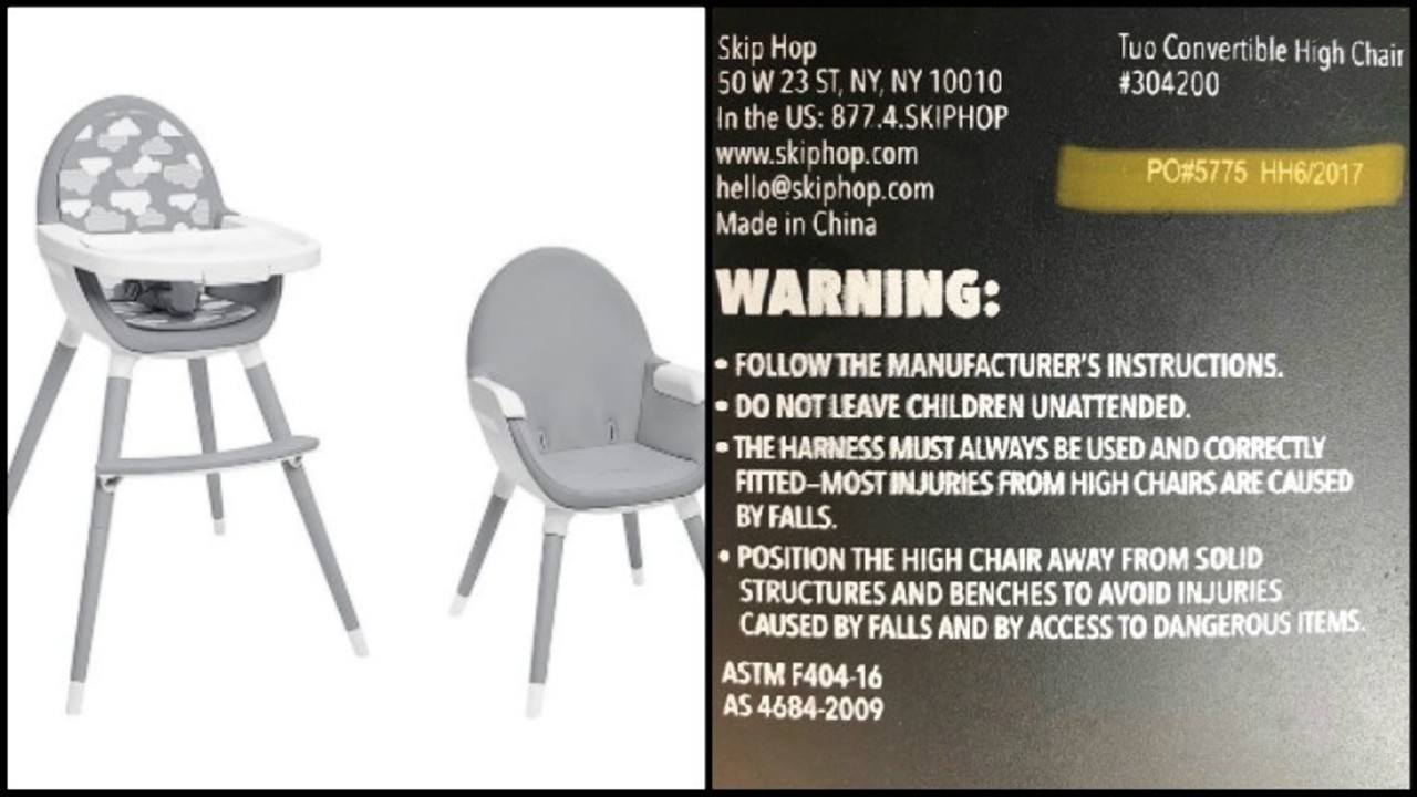 high chair recall brown leather club chairs recalled due to risk of fall injury