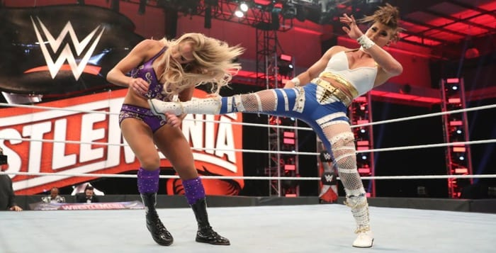 WATCH: Rhea Ripley vs. Charlotte Flair From WrestleMania 36