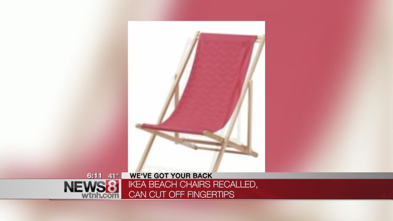 ikea beach chair white covers for folding chairs recalls after falling fingertip amputation hazards