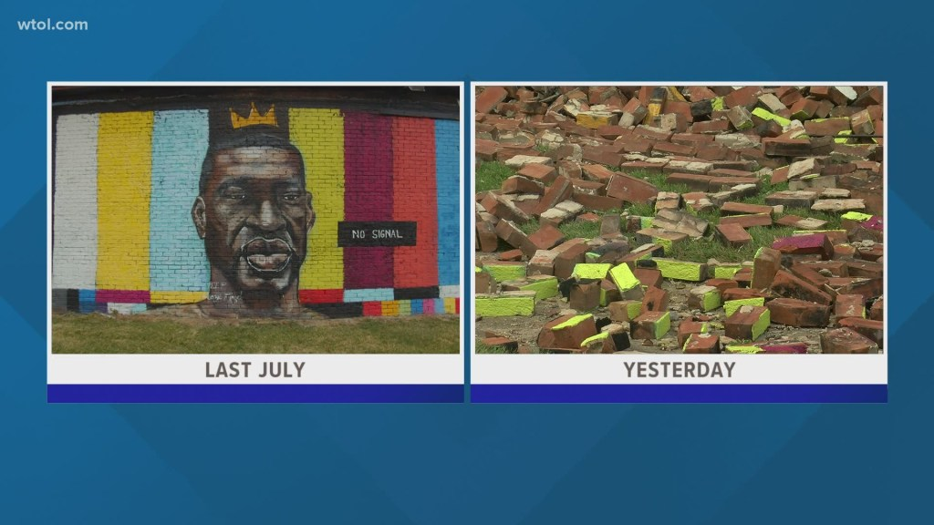 GoFundMe raising money for 'bigger better' George Floyd mural after collapse