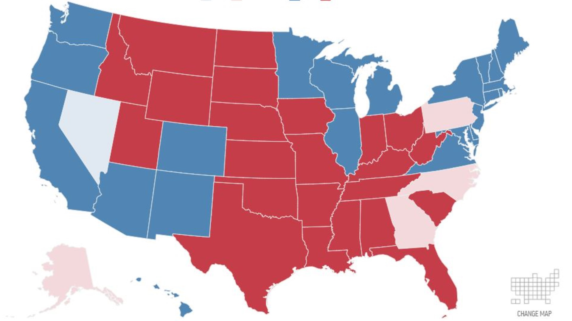 Live Election Results Interactive Electoral College
