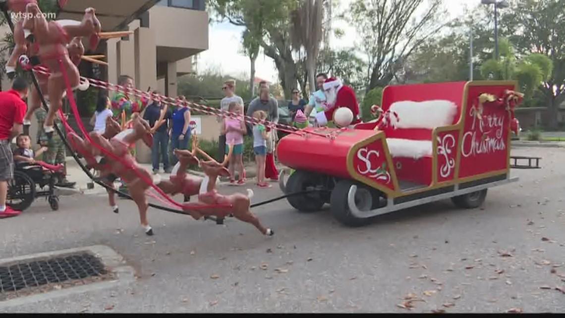 Golf cart turns into Santas sleigh  wtspcom