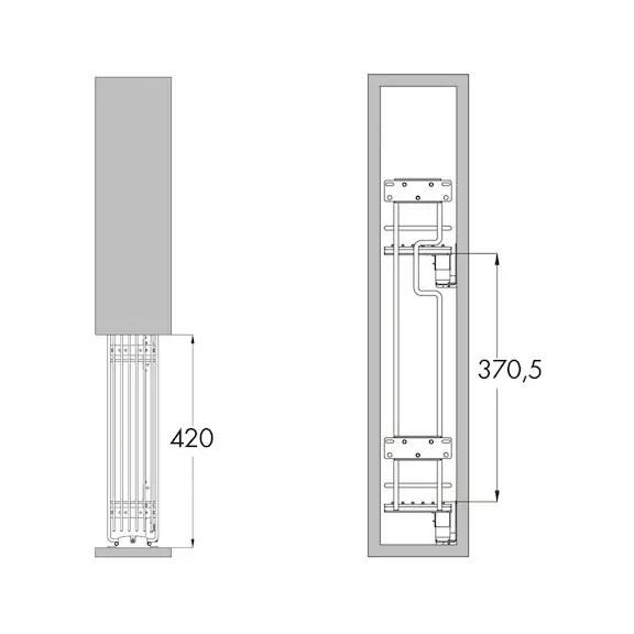 Cestello estraibile portabottiglie a 2 piani 0684901543  Wrth