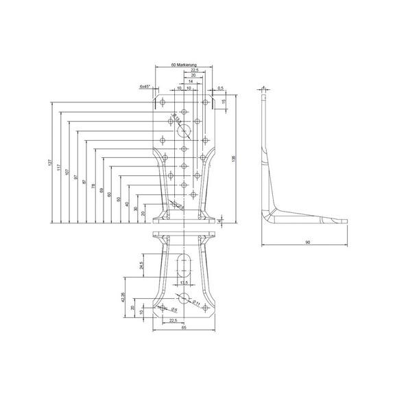 Winkelverbinder Typ V Langloch (5390210135) online kaufen