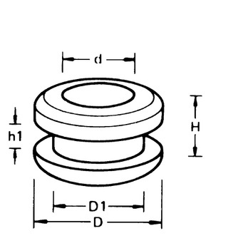 Buy Cable grommet, double-sided (05616652) online