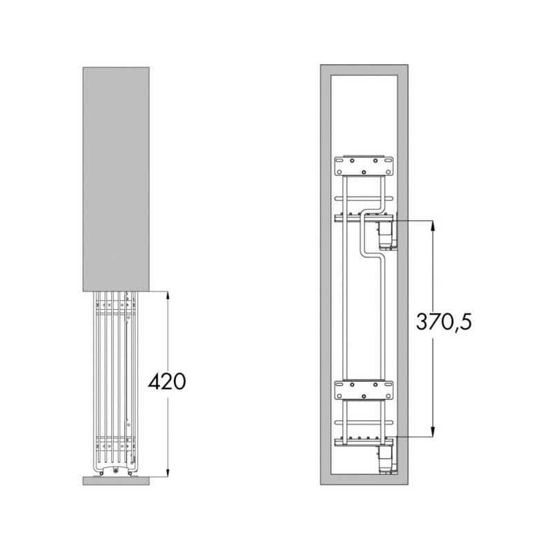 Cestello estraibile portabottiglie a 2 piani  0684901543