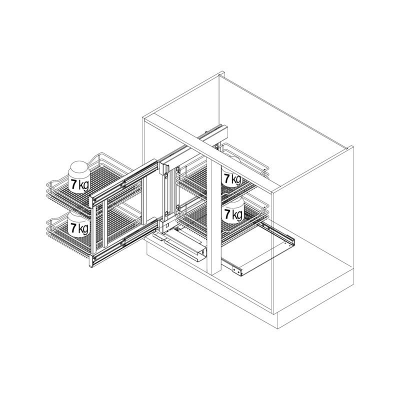 Eckschrank-Schiebebeschlag–Set VS COR Flex (0683730373