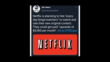 verify is netflix hiring