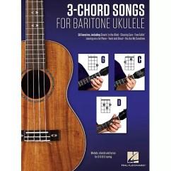 Folding Chair Uke Chords Cover Rental Atlanta Ga Hal Leonard 3 Chord Songs For Baritone Ukulele G C D Wwbw Thumbnail