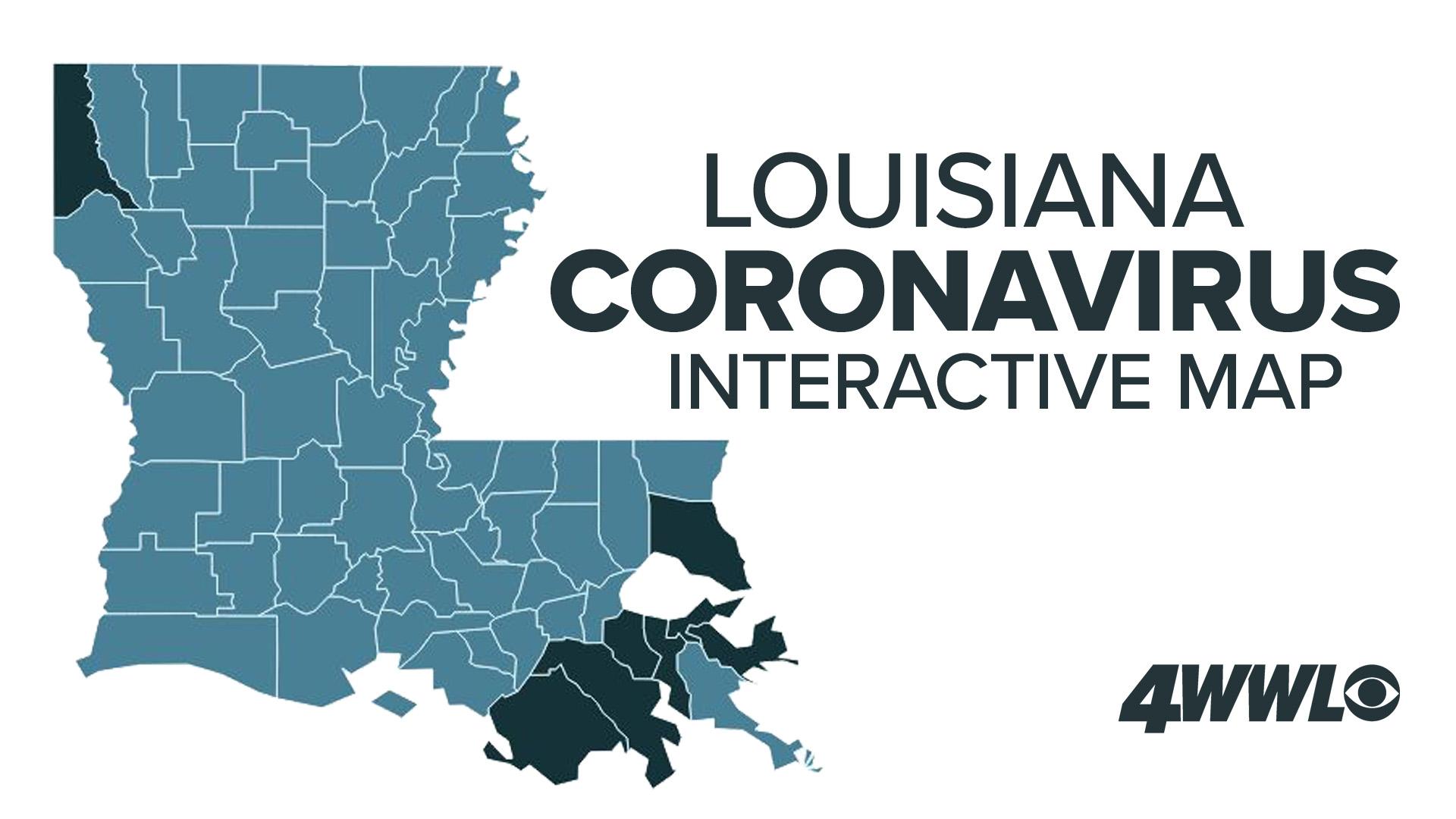 Track COVID-19: Louisiana Coronavirus Outbreak Map | wwltv.com