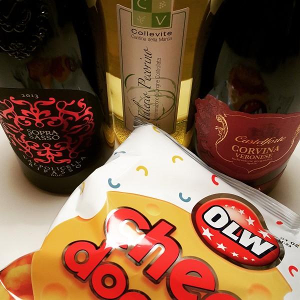 ost(bågar) och vin