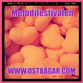 Melodifestivalen hjärtrösta ostbågar