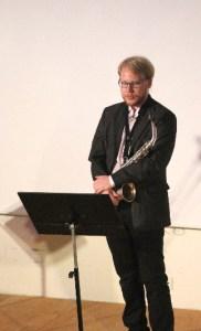 Sebastian Gustavsson visade stor skicklighet då hans hanterade sin saxofon