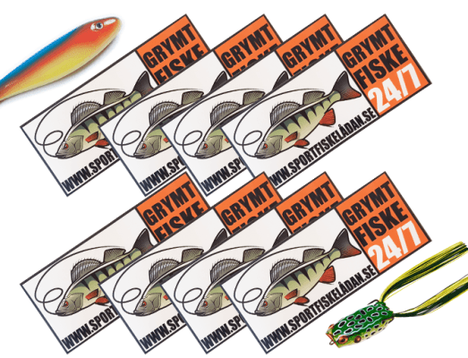sportfiskelådan klistermärke