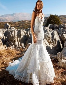 Tony ward for kleinfeld blake mermaid wedding dress also the knot rh theknot