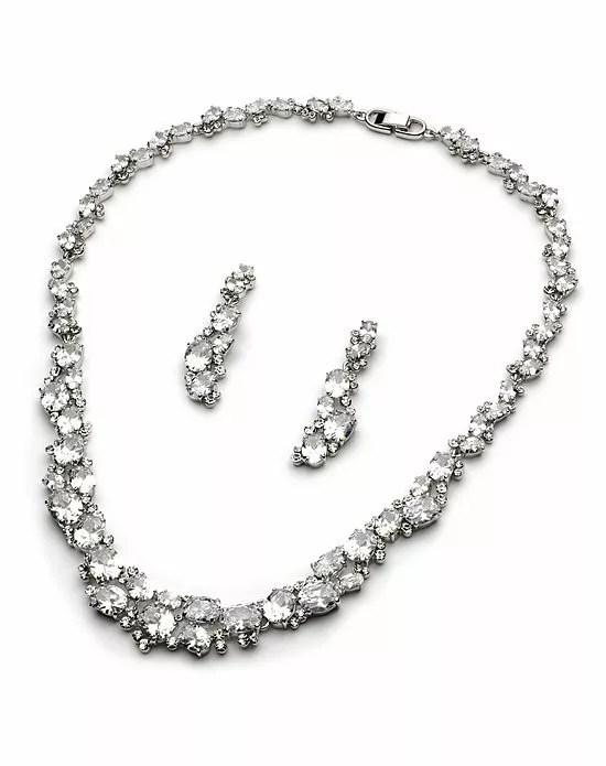 USABride 4 Strand Pearl & Swarovski Crystal Jewelry Set