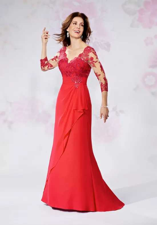 Red Mother Of The Bride Dresses