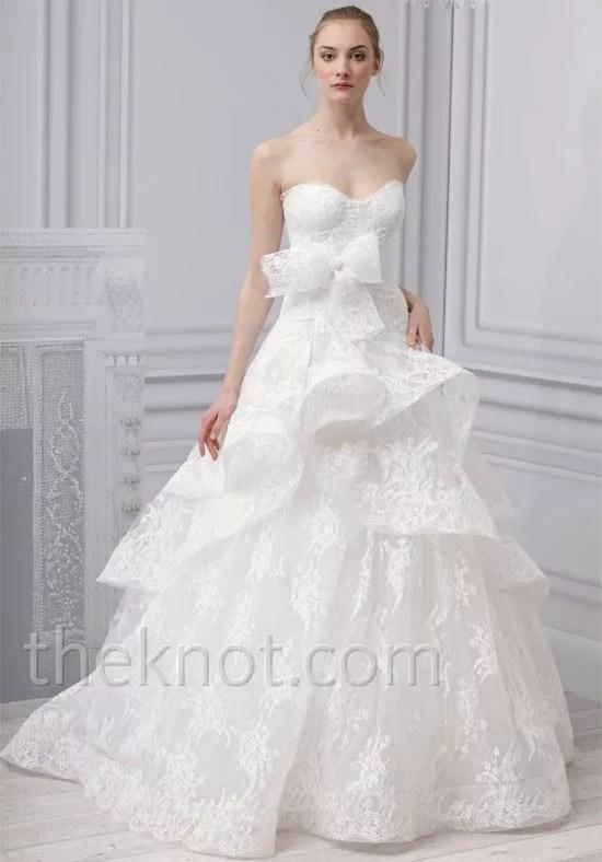 Monique Lhuillier Scarlet Wedding Dress  The Knot