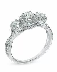 Zales 1 CT. T.W. Diamond Past Present Future Ring in 14K ...