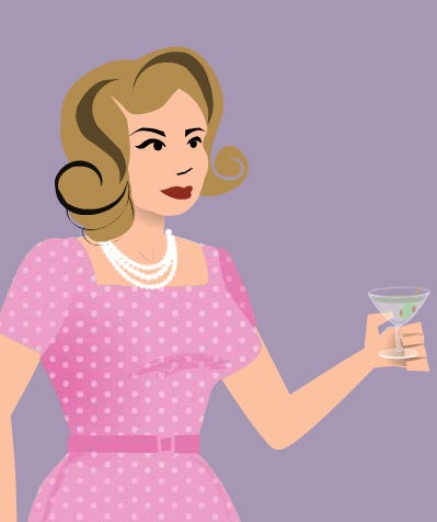 Erin as a Mad Men Character