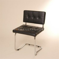 LOUNGE DESIGN CANTILEVER CHAIR | black, faux leather ...