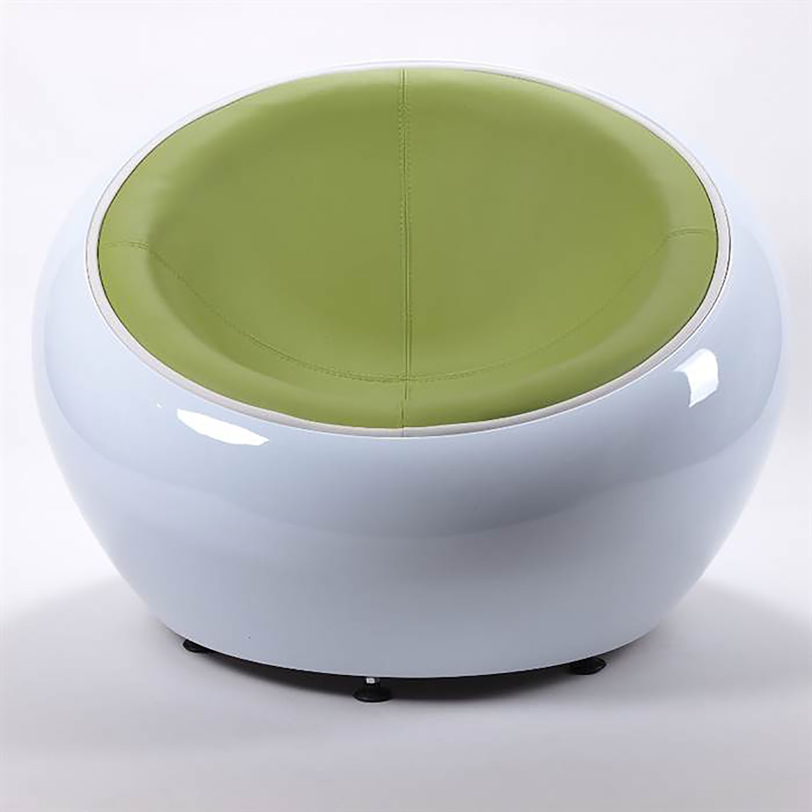 Egg Shell Chairs Retro Lounge Egg Chair White Green Bowl Lounge Design