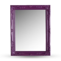 BAROQUE WALL MIRROR | purple, carved wood | antique ...