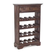 "WINE BOTTLE RACK ""NAPOLEON"" | mahogany, 22"" | wine cabinet ..."