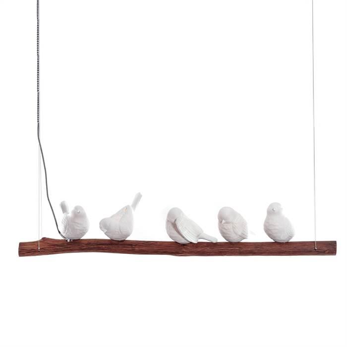 SCHNE KARE HNGELEUCHTE DINING BIRDS  120 cm 5 Vgel  Design Lampe 38804  eBay