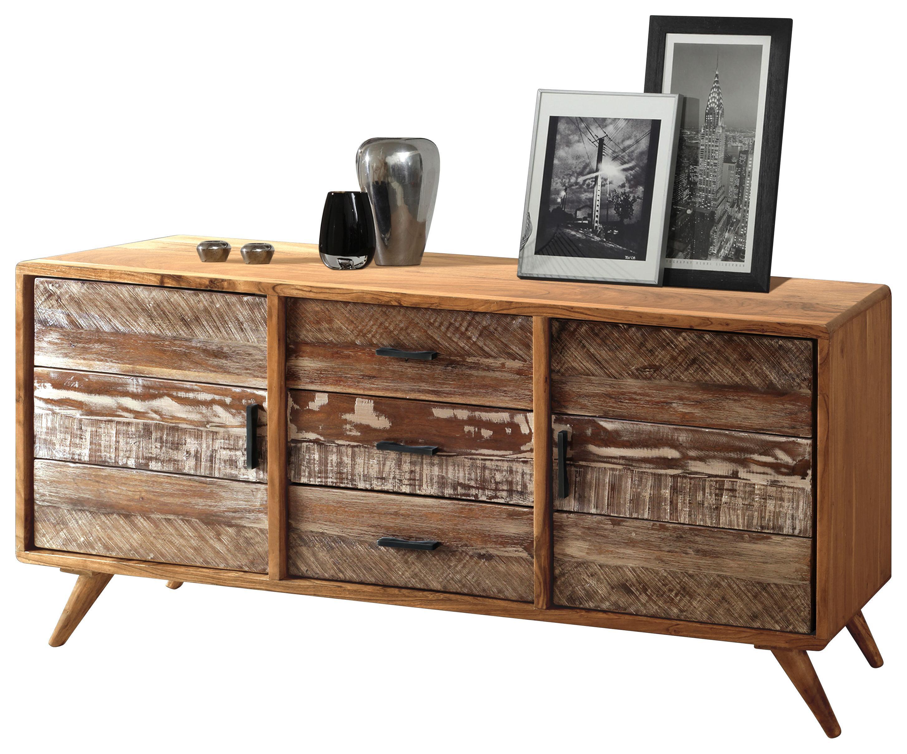 Sideboard Akazie Metall Sideboard Holz Metall Elegant Stock