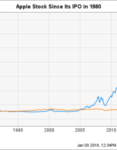 Apple stock   split adjusted return aapl chart also history the motley fool rh