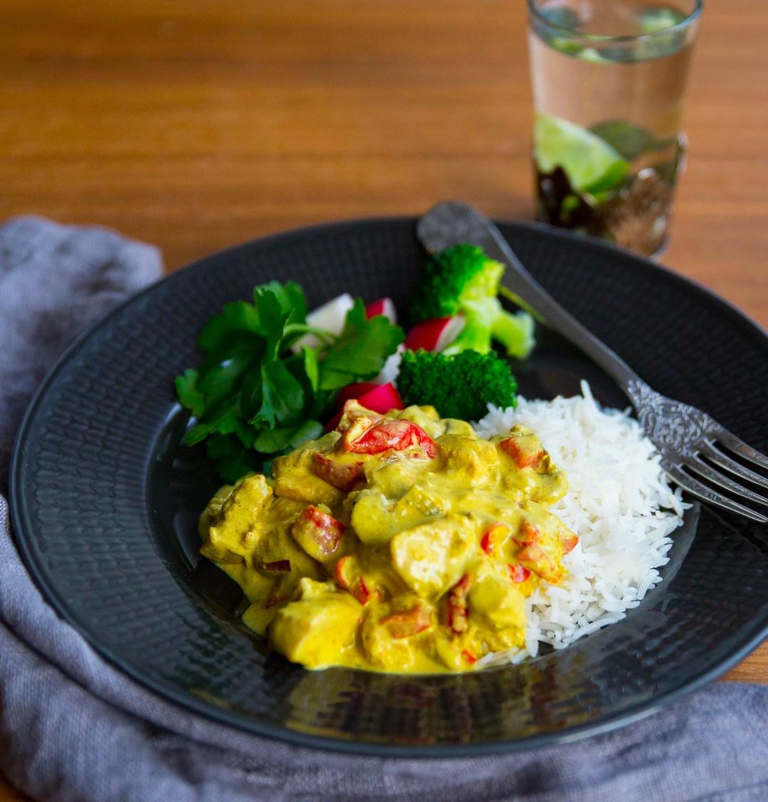 kyckling med curry recept