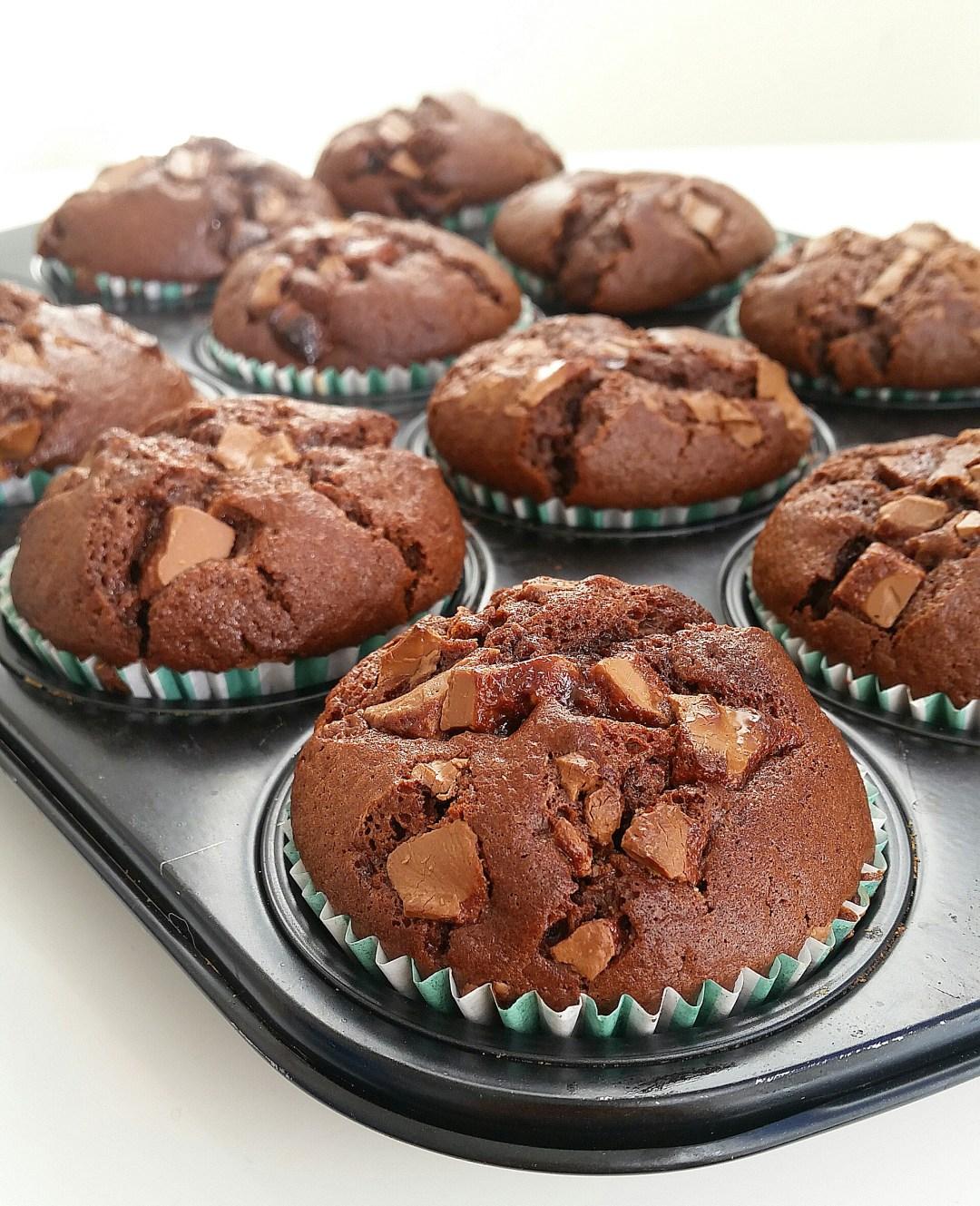 amerikanska muffins med olja