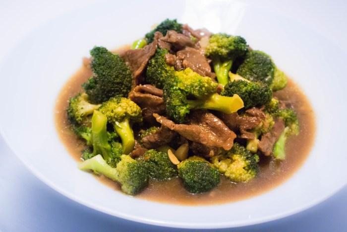 Kinesisk biff med broccoli