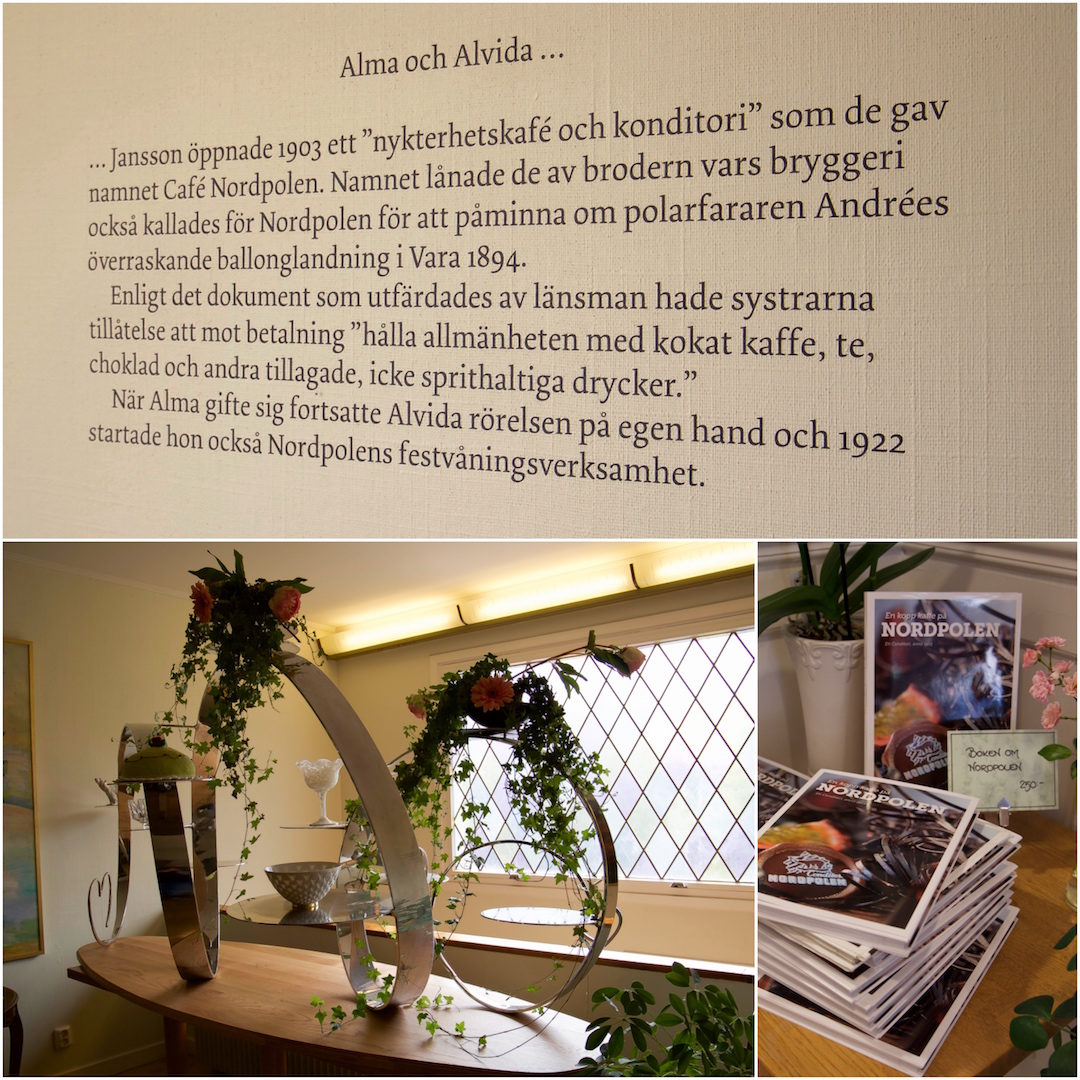 Efter fikavandringen i Alingsås åkte vi till Vara och besökte Konditori Nordpolen. Häftigt att se prins Carl Philip och prinsessan Sofias tårtställning från deras bröllop på kaféet.