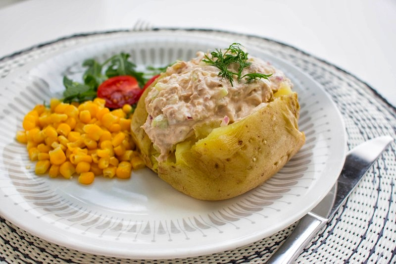 potatismos på bakpotatis