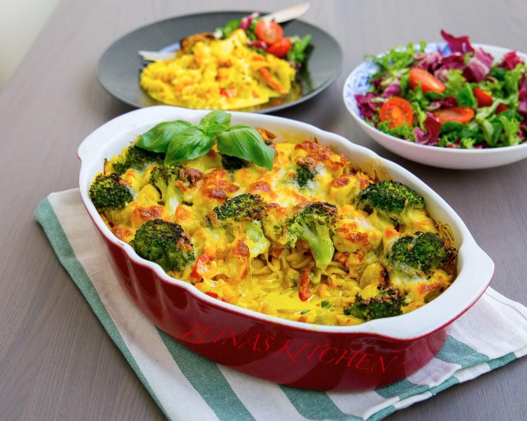Pastagratang Med Kyckling Och Curry Zeinas Kitchen