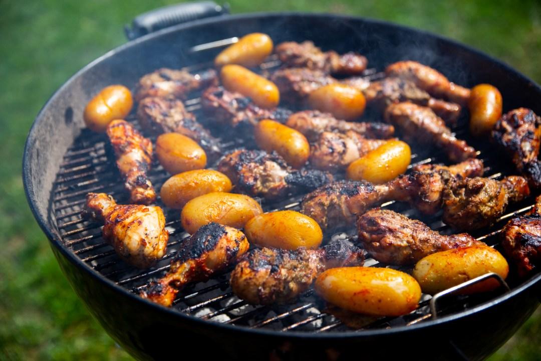 potatis på grill
